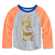 Okie Dokie® Long-Sleeve Baseball Tee - Toddler Girls 2t-5t