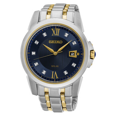 jcpenney.com | Seiko Mens Two Tone Bracelet Watch-Sne428