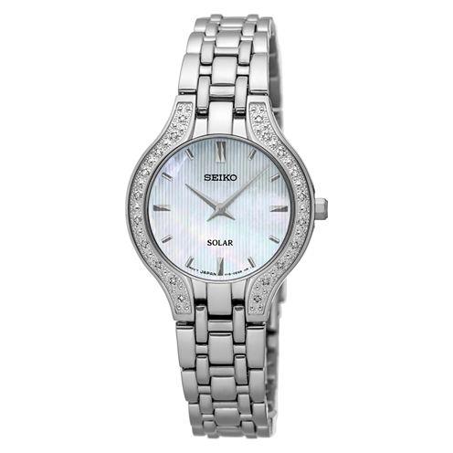Seiko Womens Silver Tone Bracelet Watch-Sup333