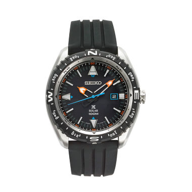 jcpenney.com | Seiko Mens Black Strap Watch-Sne423