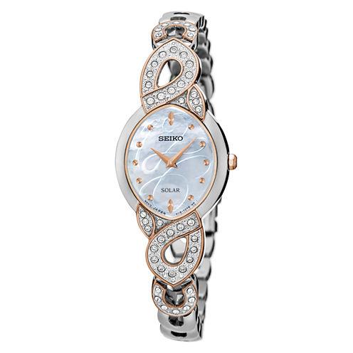 Seiko Womens Two Tone Bracelet Watch-Sup340