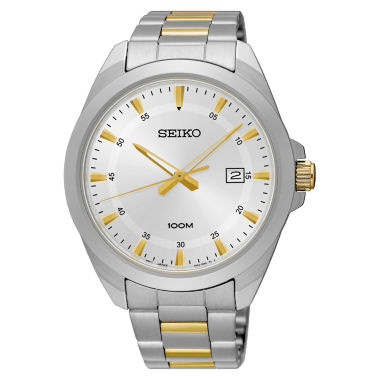 jcpenney.com | Seiko Mens Two Tone Bracelet Watch-Sur211