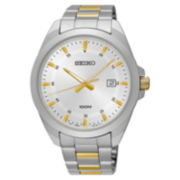 Seiko Mens Two Tone Bracelet Watch-Sur211