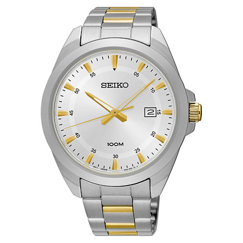 Seiko Mens Two Tone Bracelet Watch-Sur211