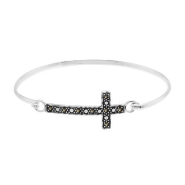 jcpenney.com | Sparkle Allure Le Vieux Cross Bangle Bracelet