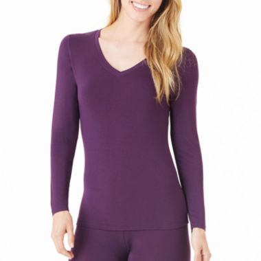 jcpenney.com | Cuddl Duds® Softwear Long-Sleeve V-Neck Shirt