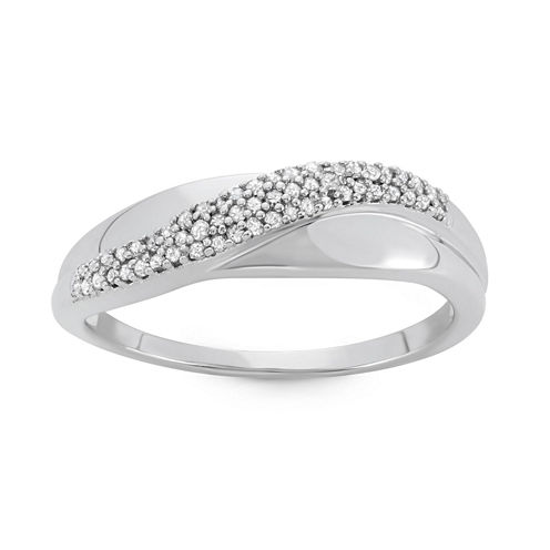 Womens 1/6 CT. T.W. White Diamond 10K Gold Band