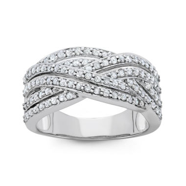 jcpenney.com | Womens 3/4 CT. T.W. White Diamond 10K Gold Cocktail Ring