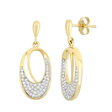 jcpenney.com | 3/8 CT. T.W. White Diamond 10K Gold Drop Earrings