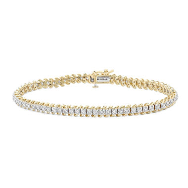 jcpenney.com | Womens 1 CT. T.W. White Diamond 10K Gold Tennis Bracelet