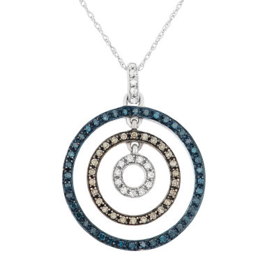 jcpenney.com | Womens 3/8 CT. T.W. Blue Diamond 10K Gold Pendant Necklace