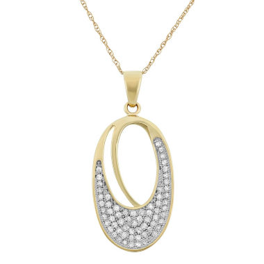 jcpenney.com | Genuine 1/3 CT. T.W. White Diamond Yellow 10K Pendant Necklace