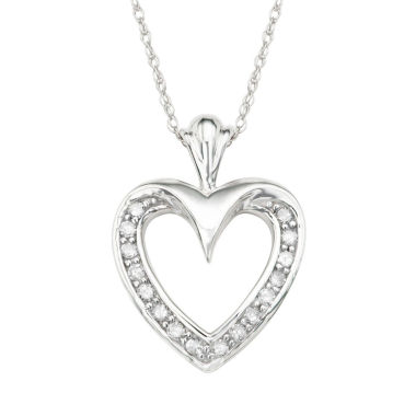 jcpenney.com | Womens 1/6 CT. T.W. White Diamond 10K Gold Pendant Necklace