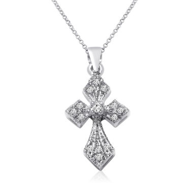 jcpenney.com | Womens 1/10 CT. T.W. White Diamond 10K Gold Pendant Necklace