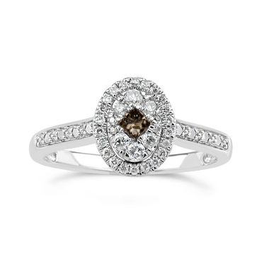 jcpenney.com | Womens 1/3 CT. T.W. Champagne Diamond Sterling Silver Cocktail Ring