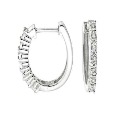 jcpenney.com | Diamond Accent White Diamond Sterling Silver Hoop Earrings