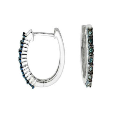 jcpenney.com | Diamond Accent Blue Diamond Sterling Silver Hoop Earrings