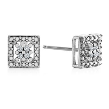 jcpenney.com | Diamond Accent Round White Diamond Sterling Silver Stud Earrings
