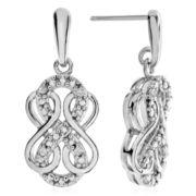 Genuine Diamond Accent Diamond White Drop Earrings