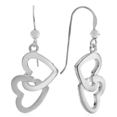 jcpenney.com | Diamond Accent White Diamond Sterling Silver Drop Earrings