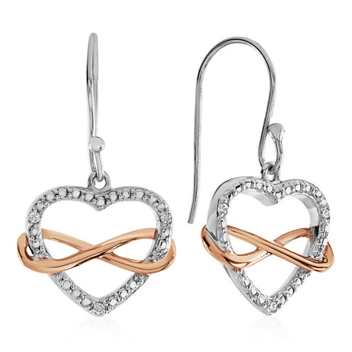 Diamond Accent White Diamond Sterling Silver Drop Earrings