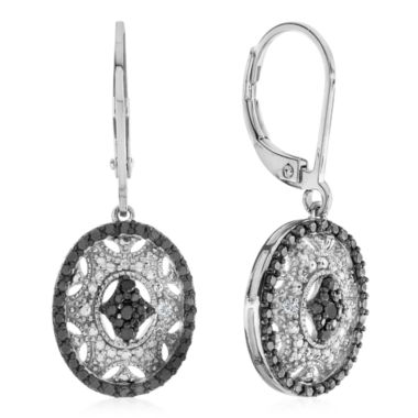 jcpenney.com | Diamond Accent Black Diamond Sterling Silver Drop Earrings