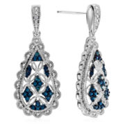 Diamond Accent Blue Diamond Drop Earrings