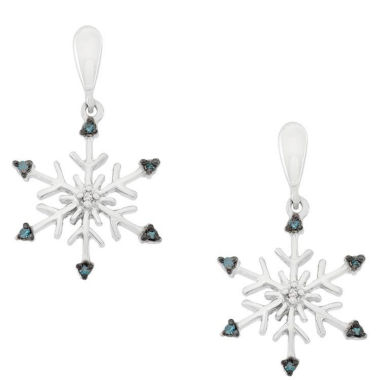 jcpenney.com | Diamond Accent Blue Diamond Sterling Silver Drop Earrings