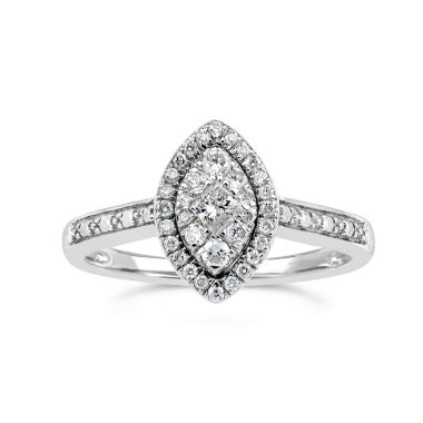 jcpenney.com | Womens 1/3 CT. T.W. White Diamond Sterling Silver Cocktail Ring