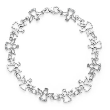 jcpenney.com | Womens 7.5 Inch Diamond Accent White Diamond Chain Bracelet