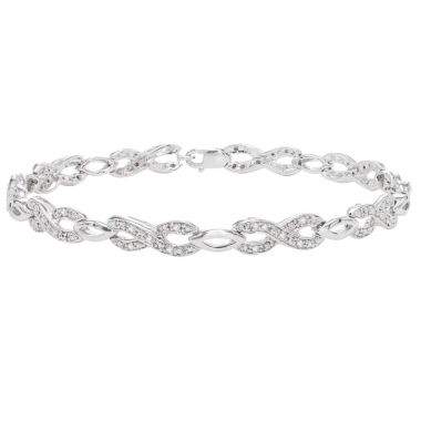 jcpenney.com | Womens 1/4 CT. T.W. White Diamond Sterling Silver Tennis Bracelet