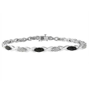 jcpenney.com | Womens 1/2 CT. T.W. Black Diamond Sterling Silver Tennis Bracelet