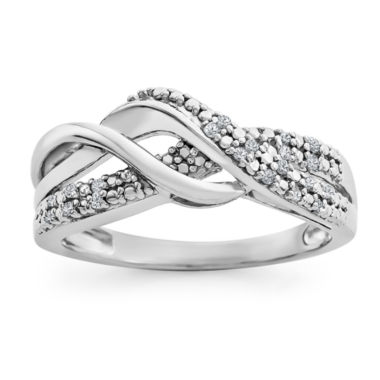 jcpenney.com | Womens Diamond Accent White Diamond Sterling Silver Band