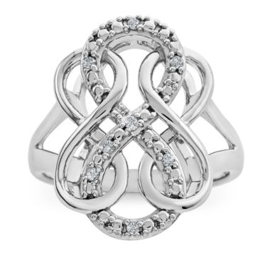 jcpenney.com | Womens Diamond Accent White Diamond Sterling Silver Cocktail Ring