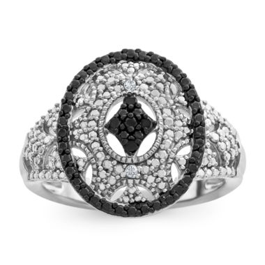 jcpenney.com | Womens Diamond Accent Black Diamond Sterling Silver Cocktail Ring