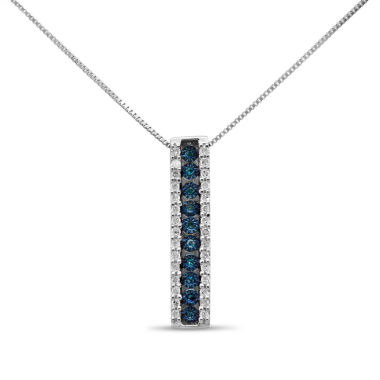jcpenney.com | Womens 1/5 CT. T.W. Blue Diamond Pendant Necklace