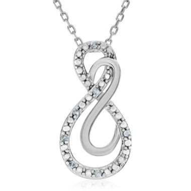 jcpenney.com | Diamond Accent White Diamond Round Sterling Silver Pendant