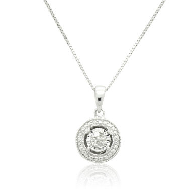 jcpenney.com | Womens 1/10 CT. T.W. White Diamond Pendant Necklace