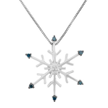 jcpenney.com | Womens Diamond Accent Blue Diamond Sterling Silver Pendant Necklace