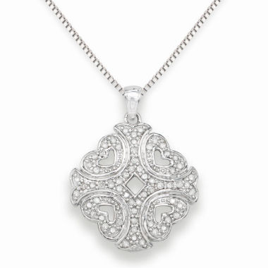 jcpenney.com | Womens 1/3 CT. T.W. White Diamond Sterling Silver Pendant Necklace