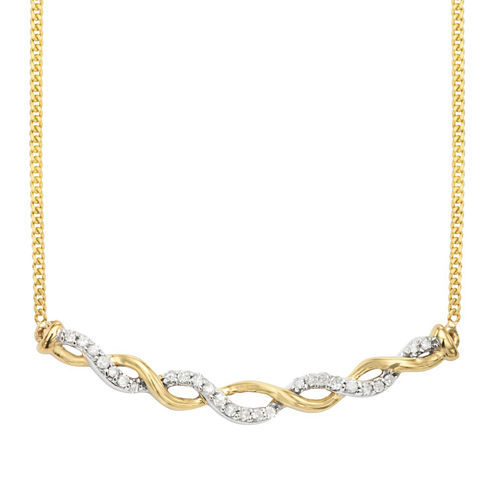 1/8 CT. T.W. White Diamond Statement Necklace