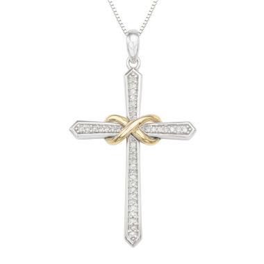 jcpenney.com | Womens 1/6 CT. T.W. White Diamond Sterling Silver Gold Over Silver Pendant Necklace