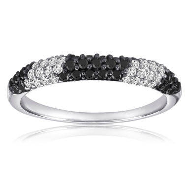 jcpenney.com | Womens 1/2 CT. T.W. Black Diamond Sterling Silver Band