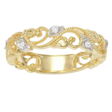 jcpenney.com | Womens 1/10 CT. T.W. White Diamond Gold Over Silver Band