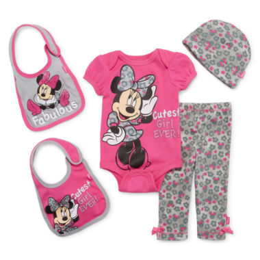 jcpenney.com | 5-pc. Minnie Mouse Clothing Set - Baby Girls newborn-24m