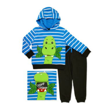 jcpenney.com | Novelty 2-pc. Dino French Hoodie and Pants Set - Toddler Boys 2t-4t