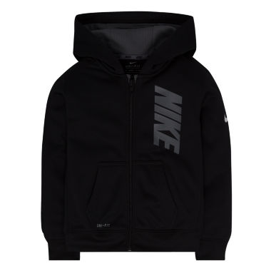 jcpenney.com | Nike® Long-Sleeve Front-Zip Fleece Hoodie - Preschool Boys 4-7