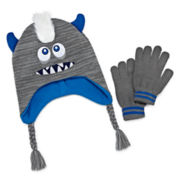 Mohawk Monster Hat & Glove Set - Boys 8-20