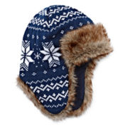 Navy Trapper Hat - Boys 8-20