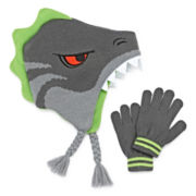 Dino Hat & Gloves Set - Preschool Boys 4-7